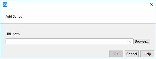Client Javascript Configuration Dialog
